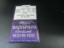 New Nos Le Coultre 449-450-468A Mainspring Watchmaker Replacement Part