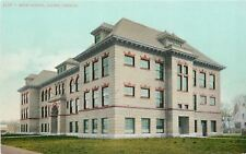 Salem Oregon~Eyelash Windows, Dormers on High School~Homes Behind~c1910 Postcard