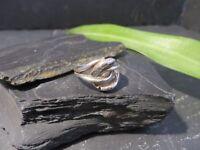 Antiker 925 Silber Ring Verschlungen Abstrakte Schlangen Verschlungen Jugendstil