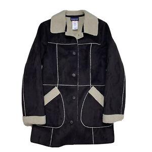 Womens XS  Patagonia  Brown Fleece Lined Shearling Coat