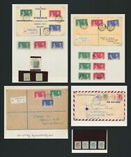 1937-1939 HONG KONG COVERS KGVI x4 INC 1ST DAY CORONATION REG TO ENGLAND & DUTY