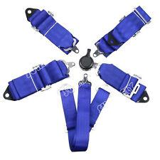 Seat Belt 6 Point Racing Harness Kit Quick Release Track / Race / Drift Car Blue