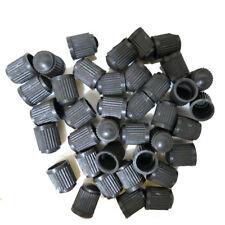 50* Black Plastic Auto Car Truck Wheels Tire Valve Stem Cap Lid Air Dust Cover