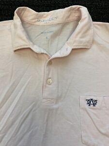 B. DRADDY SHORT SLEEVE GOLF POLO SHIRT MENS Logo Pink/White Large