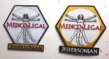 "BONES TV Series  Medico Legal Logo 3.25"" Patch Set of 2- FREE S&H (BOPA-S02)"