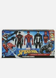 MARVEL Spider-Man Titan Hero Series with Blast Gear Venom & Miles Morales 3 Pack