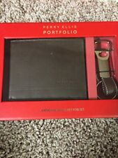 $47.50 Perry Ellis Wallet & Fob Key Set Tan C5