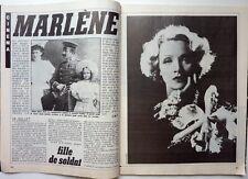 TELERAMA 1984: MARLENE DIETRICH_GEORGES BRASSENS_LYON capitale de la danse