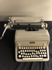 Vintage Gray Royal Quiet De Luxe Typewriter