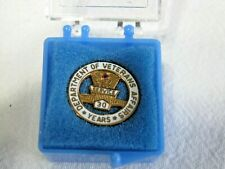 New listing Department of Veteran's Affairs 10K Gold Pinback Button-30 Year Service Award