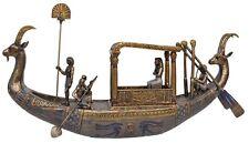 Veronese Bronze Figurine Egyptian King Tutankhamun on Boat