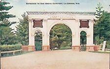 Oak Grove Cemetary, La Crosse, Wisconsin WI - Early 1900s Vintage Postcard
