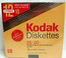 Vtg 1985 New Sealed KODAK 2S - 2D 5 1/4 Diskettes Double Sided Double Density