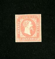 Sardinia Stamps # 3 F+ OG hinged Scott Value $20,500.00