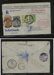 Bolivia  158,189, 203-04 on Graff Zeppelin flight cover to Germany  1932