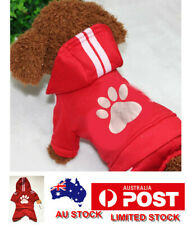 Cute Pet Dog Warm Jumper Sweater Clothes Puppy Cat Hoodie Winter Red