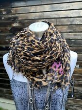 LOUIS VUITTON Stephen Sprouse  Leopard Silk Stole Scarf