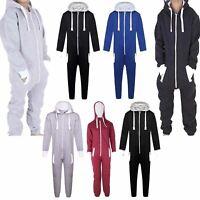 Girls Boys Hooded Zip All In One 1Onesie Children Kids Jumpsuit Junior Playsuits