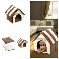Plush Pet House Bed for Dog Cat Kitten Puppy Supply Soft Indoor Cozy Washable