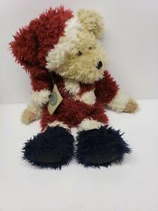 Boyds Bears Sandy Claus II 17in Teddy Bear Santa Bean Bag Plush Vintage w/ TAGS