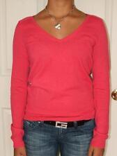 NWT Gap womens Pink V-neck Shoulder Stitch Sweater XS