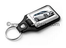 WickedKarz Cartoon Car Vauxhall Zafira Tourer C SRi 2011+ White Key Ring