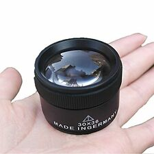 Portable Optics Loupes Magnifier Magnifying Glass Lens Jeweler Coins Stamps X30