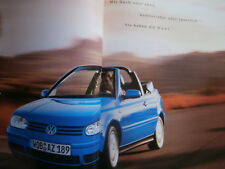 VW Golf IV Cabriolet Prospekt 10/2001+Preise +Highline +Colour Concept Brochure