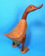 """10.5"""" CARVED WOOD (BAMBOO) DCUK (DUCK) MWOT"""