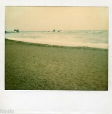 POL609 Polaroid Photo Vintage Original landscape paysage mer sea plage vague