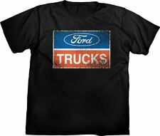 Ford Trucks Logo Distressed Look Men's T-Shirt ~ Black ~ XL~ Official Licensed