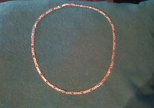"""22"""" ~925mex ga01 ~sterling silver ~figaro necklace ~4mm. 1/8 inch. 0.157"""