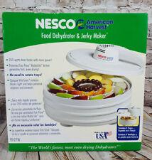 NEW Nesco FD-27W American Harvest Food Dehydrator & Jerky 350 Watts Dries Faster