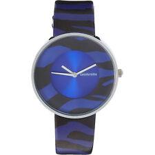 Ladies LAMBRETTA 'Cielo' Zebra Pattern Blue Watch rrp £67 - New