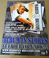 Immature Marques Houston 2003 Retail Promo Poster for Mh Cd Imx Never Displayed