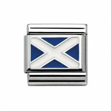 NEW GENUINE NOMINATION CLASSIC STERLING SILVER & ENAMEL SCOTTISH FLAG CHARM