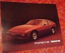 1977 Porsche 924. Promotional sales sheet brochure/pamphlet. Mint