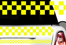 Adesivo Motivo a quadri Race Turbo Bandiera laterali Karo Taxi Decorazione x3x