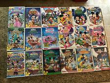 Lot of 18 Disney Mickey Mouse Clubhouse Dvd's Splash Treat Pop World Super Euc