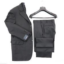 NWT PAL ZILERI Smoke Gray Melange Super 150's Tasmanian Wool 3 Btn Suit 40 8R 50