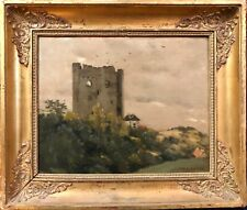 RARE: Jean-Charles Cazin; Oil/Canvas, French Impressionist Landscape, c. 1895