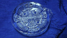 Vintage Footed Killarney Indiana Clear Glass Divided Relish Dish One Handle