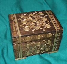 Vintage jewellery box wooden box 1980's, lovely for cuff links, tie pins