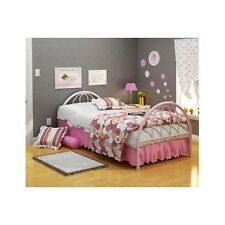 Twin Bed Frame For Kids Girls Headboard Footboard Metal Pink Bedroom Furniture