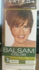 Clairol Balsam Hair Color Permanent  Dye 608 Light Brown New Lot of 2