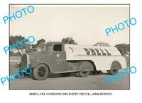 OLD 6 x 4 PHOTO OF SHELL OIL Co TRUCK c1940 SYDNEY 1