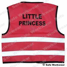 Little Princess PINK Hi vis vest Kids Safety Christmas Present for Children