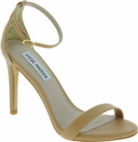Steve Madden STECY SANDAL Womens stiletto heels sandals buckle nude faux leather