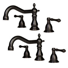 "2x Roman Bathroom Sink Faucet Vanity Lavatory - Oil Rubbed Bronze 8"" Widespread"