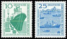 EBS East Germany DDR 1958 Rostock Sea Port (II) Michel 663-664 MNH**